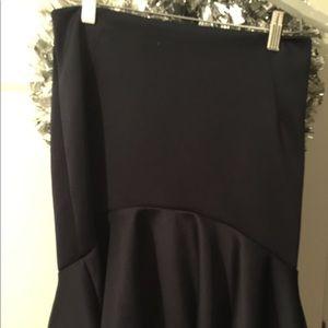 Pre-Owned  Forever 21 high waisted navy blue skirt